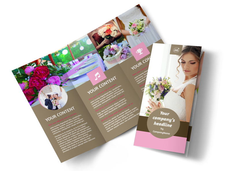 Wedding Florists Brochure Template MyCreativeShop - wedding brochure template