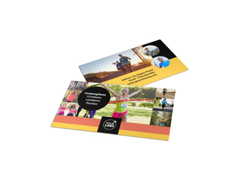 City Running Club Business Card Template MyCreativeShop