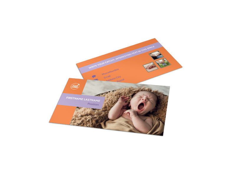 Baby Photography Business Card Template MyCreativeShop - card templates for pographers