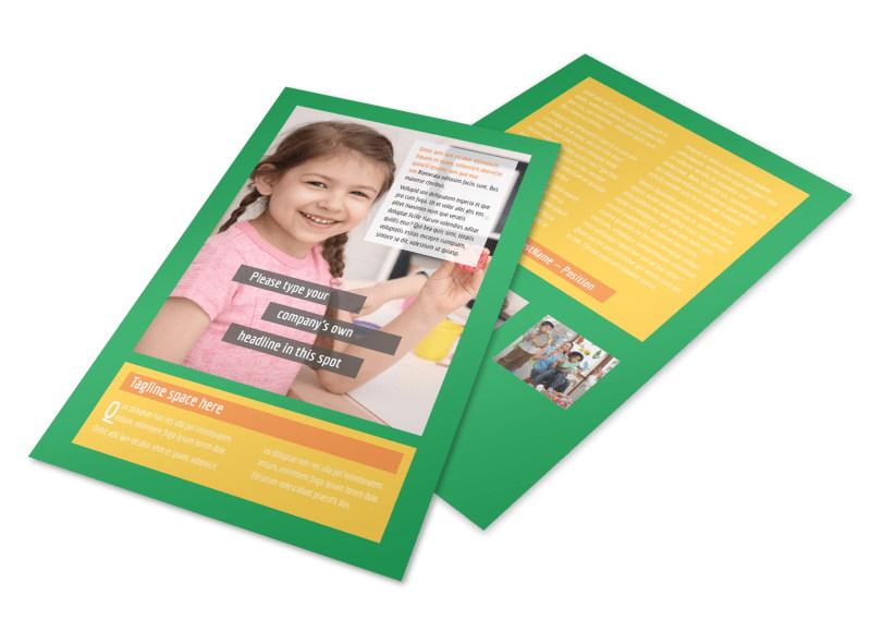 Preschool Flyer Template MyCreativeShop