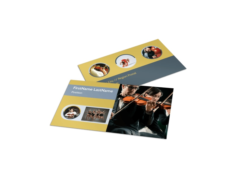 Performing Arts School Business Card Template MyCreativeShop