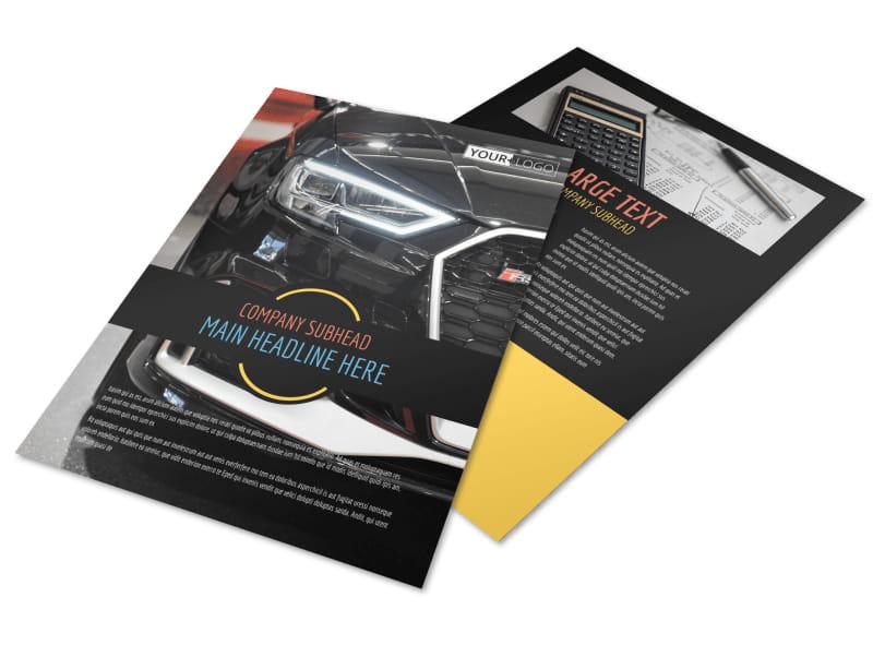 Auto Finance Flyer Template MyCreativeShop