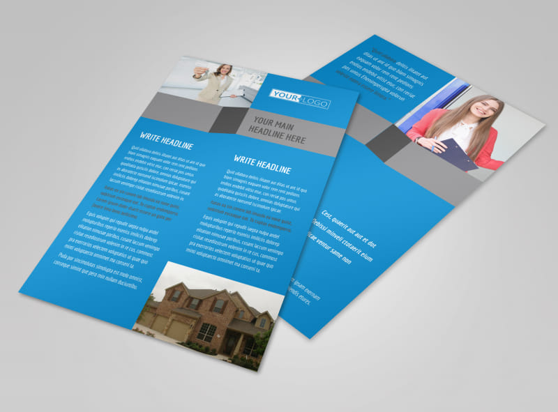 Residential Real Estate Flyer Template MyCreativeShop