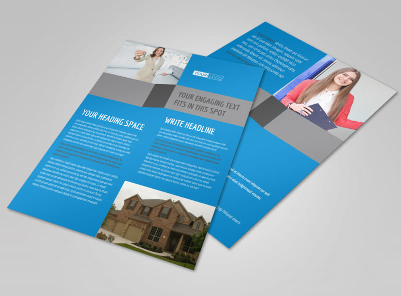 Residential Real Estate Flyer Template MyCreativeShop - home sale flyer template
