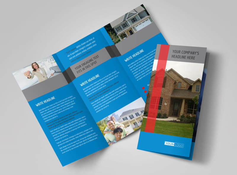 Residential Real Estate Brochure Template MyCreativeShop - home sale flyer template