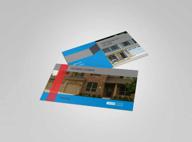 Residential Real Estate Business Card Template MyCreativeShop