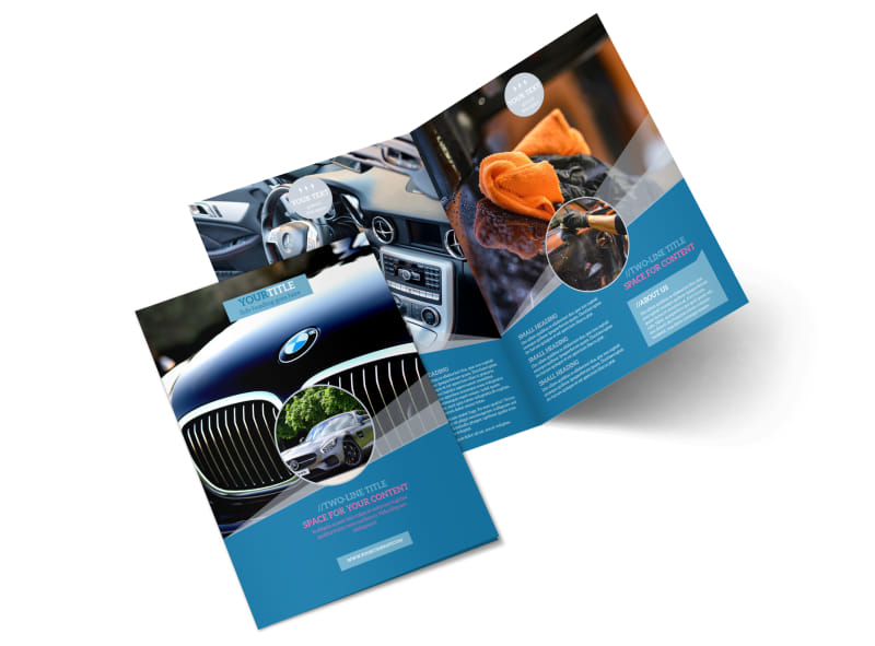 Auto Detailing Brochure Template MyCreativeShop