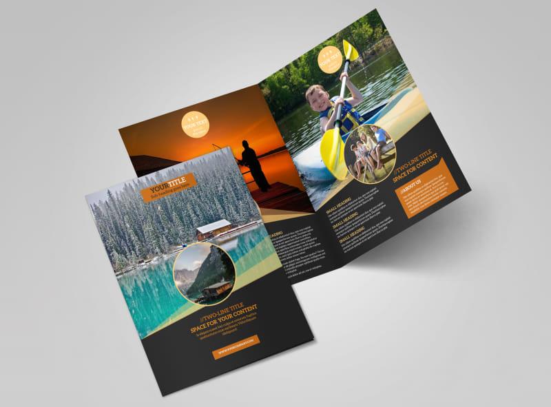 Lake Front Resort Brochure Template MyCreativeShop