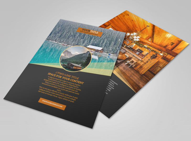 Lake Front Resort Flyer Template MyCreativeShop