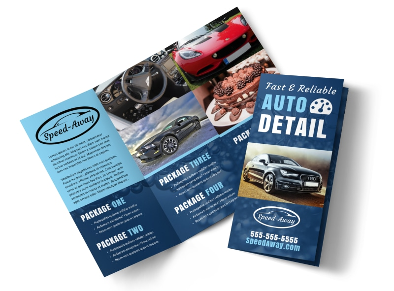 Auto Detailing Brochure Template MyCreativeShop - product brochure template
