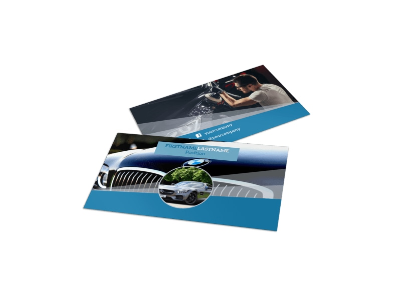 Auto Detailing Business Card Template MyCreativeShop