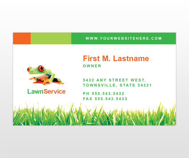 lawn care business flyer templates - lawn care business cards