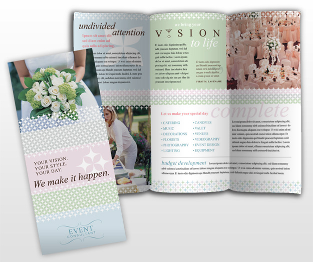 event brochure template - wedding brochure template