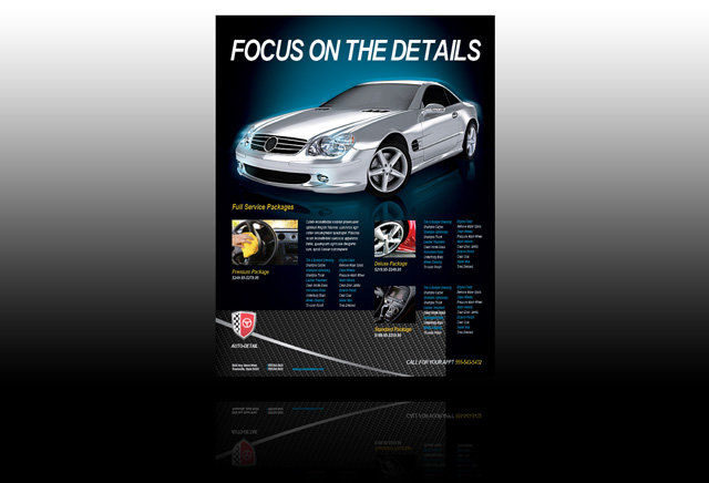 Car Interior Cleaning Flyer car wash website template 24192 car