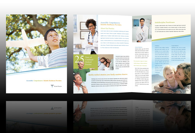 Examples of Medical Brochures Graphic Design Pinterest - sample receptionist resume