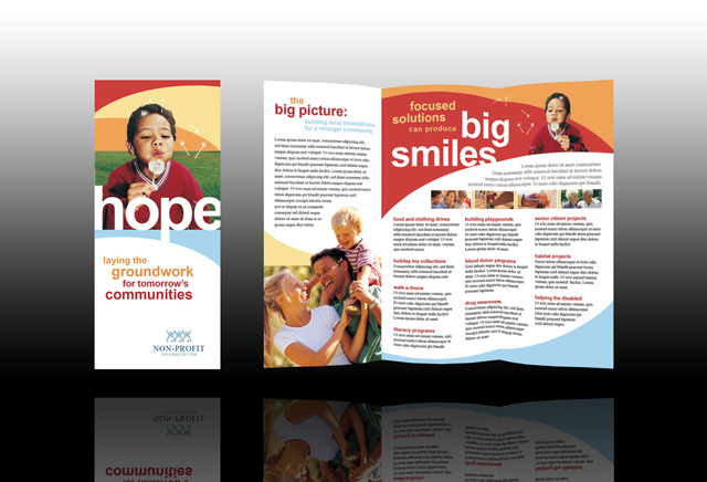 Non Profit Design Inspiration Pinterest Brochures - advertising brochure template
