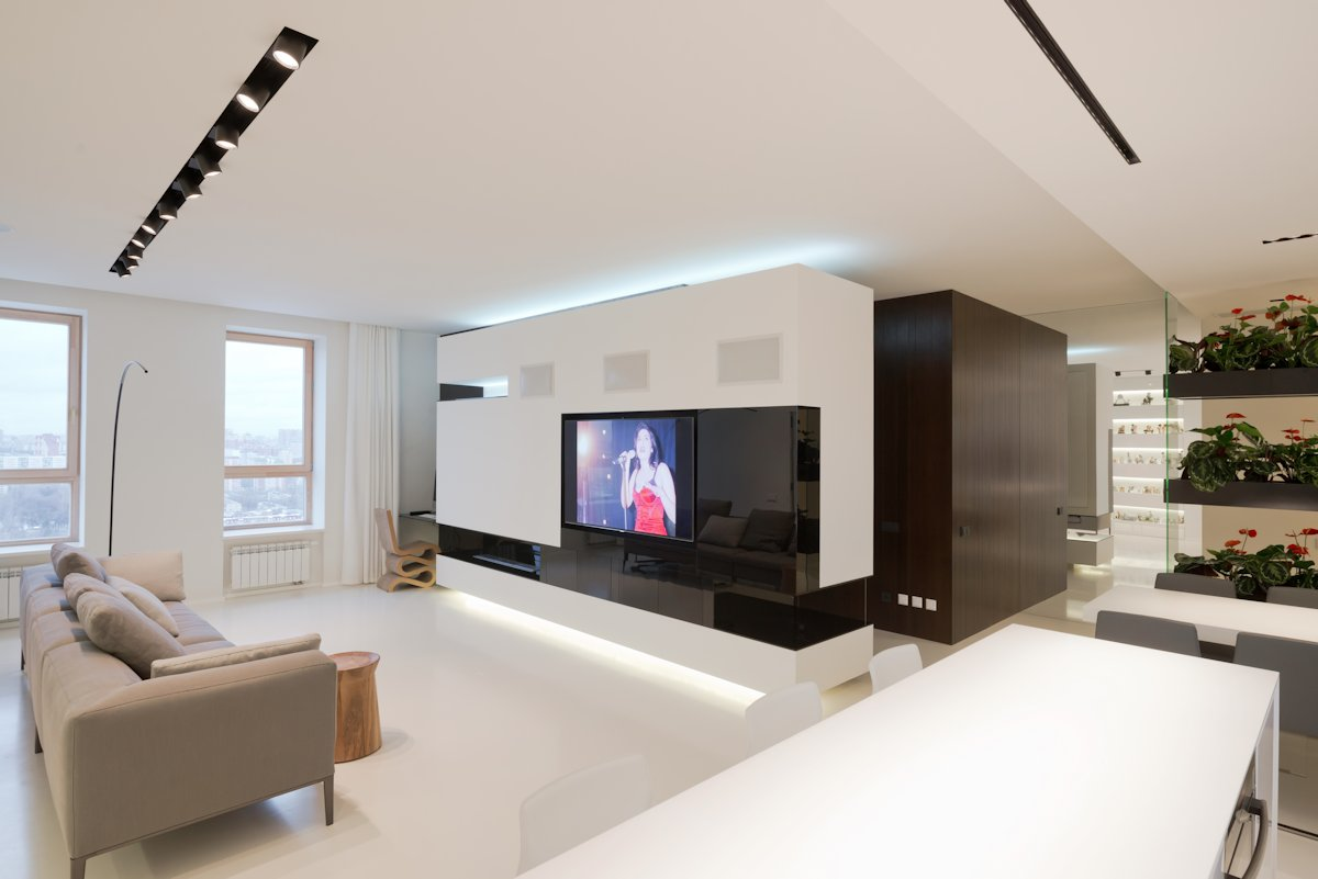 Offene Küche Eckfenster Modern And Luxurious Apartment In Moscow By Sl Project