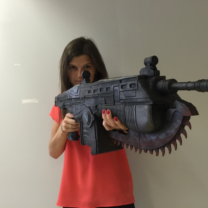 3D Printable Gears Of War Lancer- CHAINSAW GUN! By Edgar Monroydirty