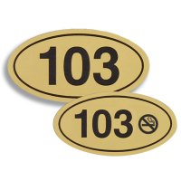 4x2-1/8 Engraved Room Number Signs