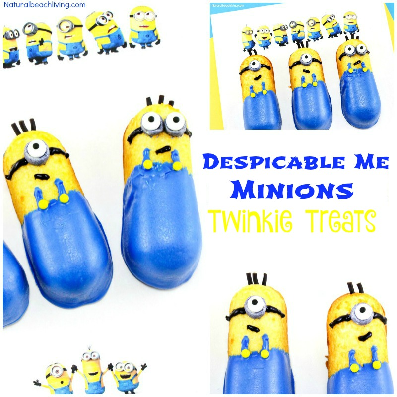 How to Make Despicable Me Minions Twinkie Treats - Natural Beach Living