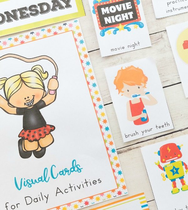 Daily Visual Schedule Cards Bundle - Natural Beach Living