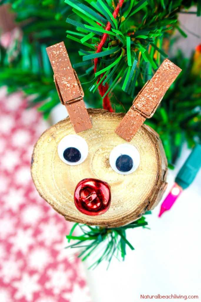 Easy to Make Rudolph Christmas Ornaments Kids Will Love - Natural