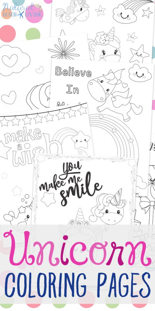 Unicorn Coloring Pages - Free Unicorn Preschool Theme Activities