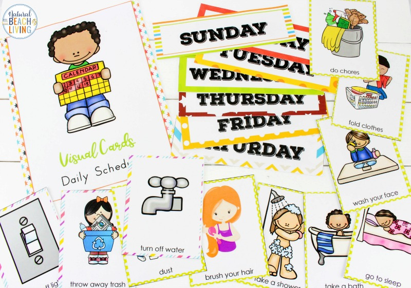 Visual Schedule Printable Bundle - Best Daily Schedule for Kids