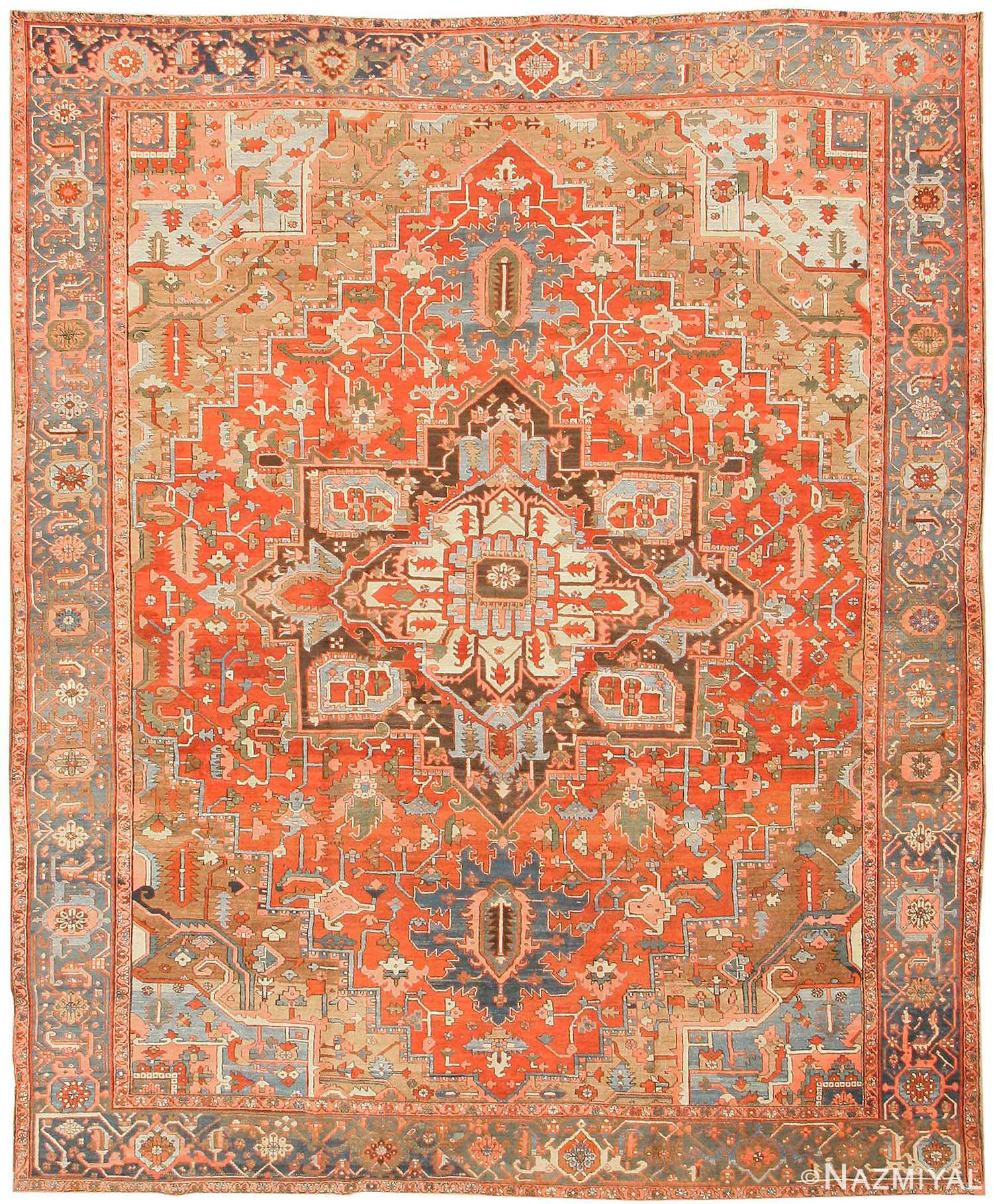 Red Oriental Rug Antique Heriz Persian Rugs 43346 By Nazmiyal