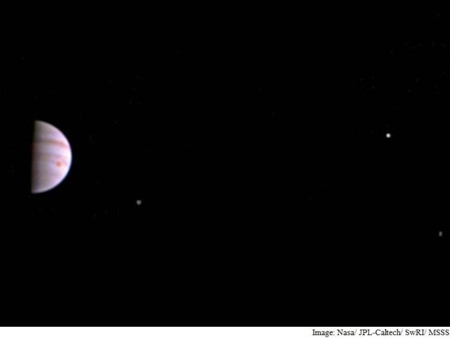 Nasa's Juno Mission Sends First Image of Jupiter, Its Moons