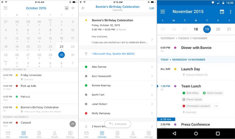 Microsoft Outlook App Revamped, to Get Sunrise Calendar Features