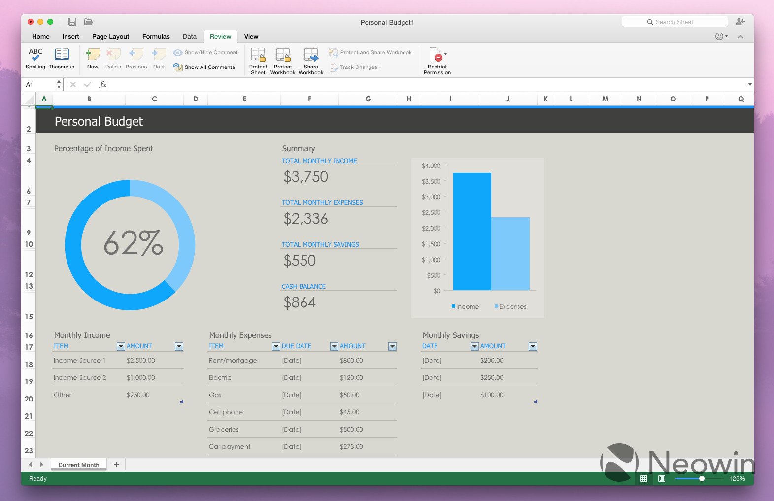Office For Mac 2016 Hands On With Excel For Office 2016 For Mac Neowin