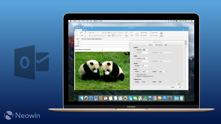 Outlook for Mac gets another update in Office Insider Fast ring - microsoft outlook templates