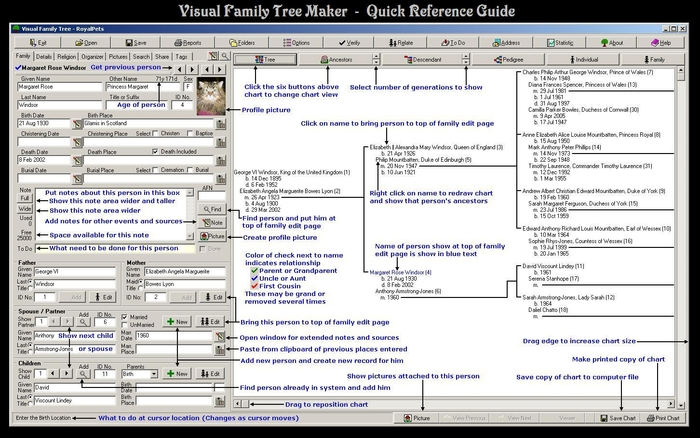 Download Visual Family Tree Maker free \u2014 NetworkIce - free family tree maker with pictures