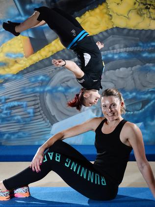 Buy Trampoline Brisbane Trampoline Is The New Fitness Craze The Courier Mail