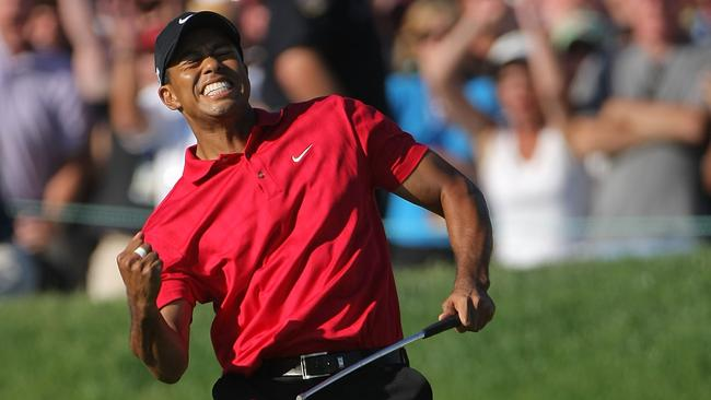 tiger woods score right now us open