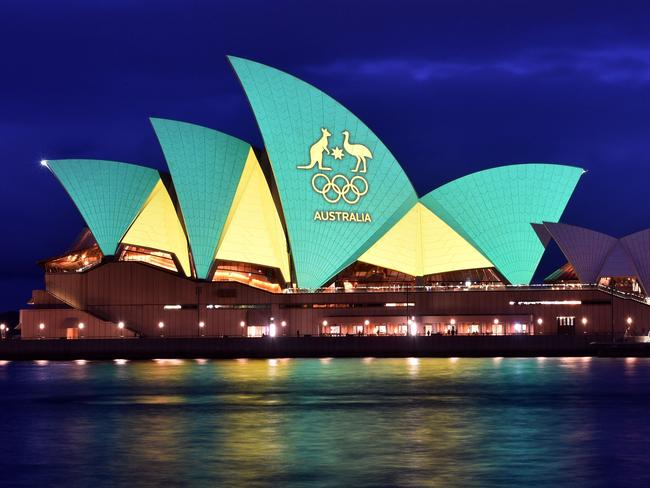 3d Home Wallpaper Malaysia Sydney Opera House Lit Up With A Field Of Poppies For