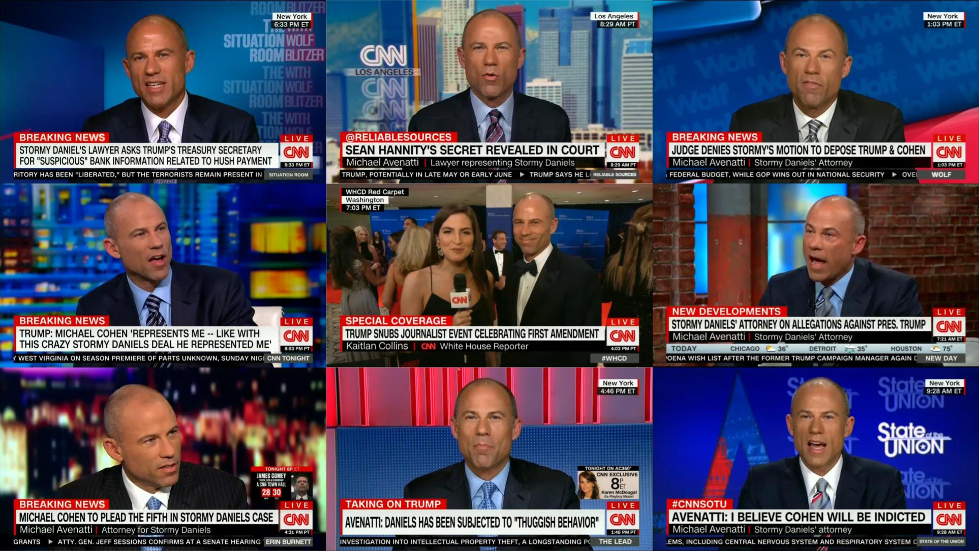 Cnn One A Day Cnn Hosts Porn Star S Lawyer Michael Avenatti 59 Times