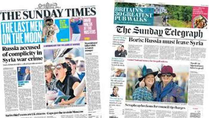 The Papers 39russia Accused Over Syria War Crime39 One
