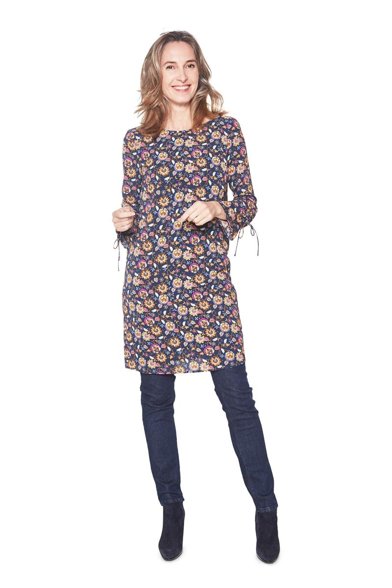 Www Tom Tailor Tom Tailor Women Kleid Blumendessin Navy