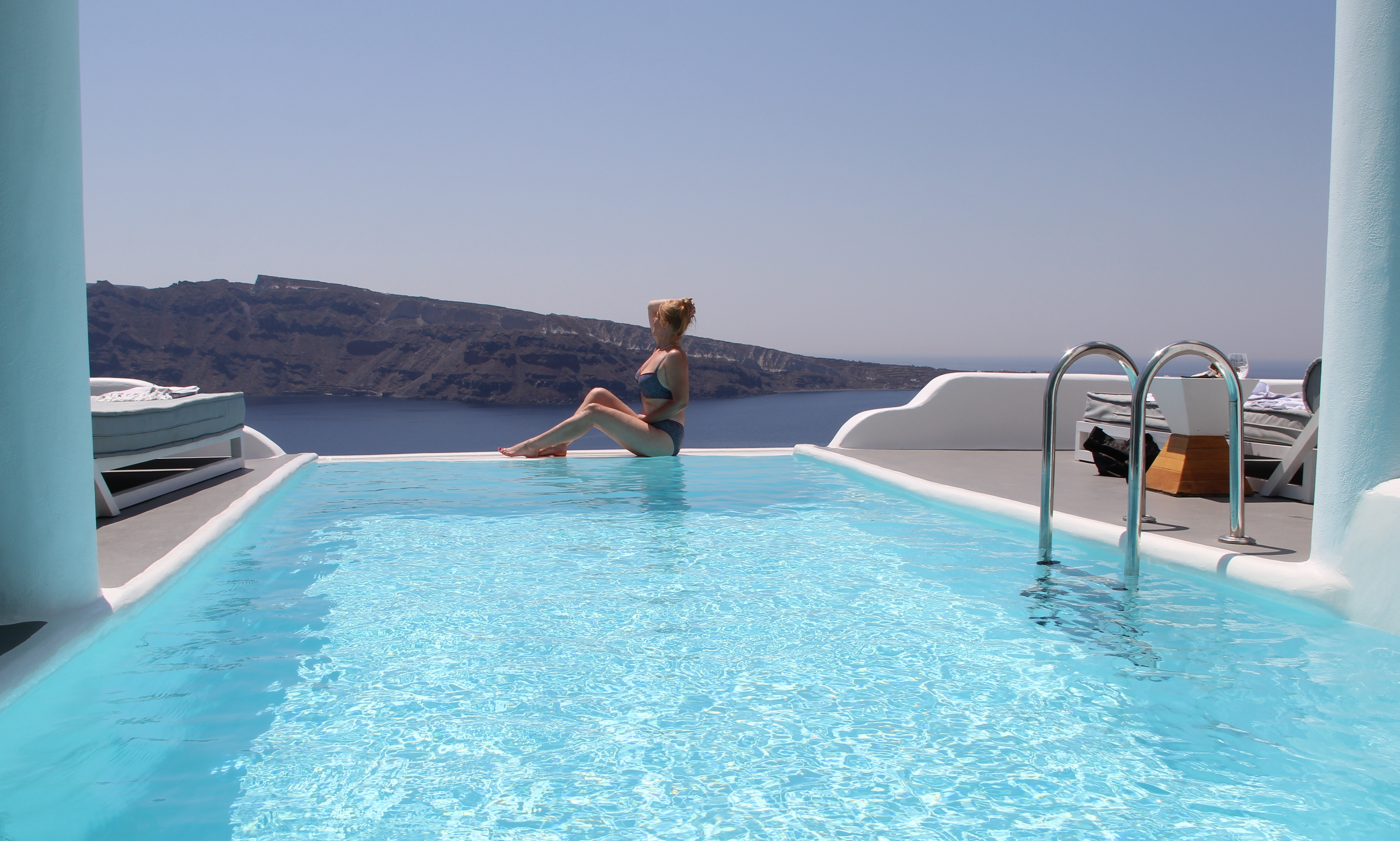 Santorini Prive Zwembad Balkon Charisma Suites Voyages And More