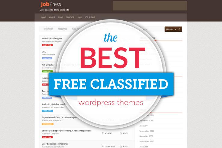 Best Free WordPress Classified Themes 2018 - best free wordpress templates