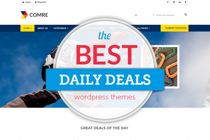 16+ Best Daily Deals WordPress Themes 2018