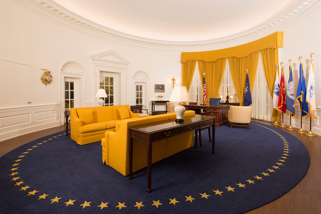 President Nixon39s Oval Office Now On Display At Nixon Library