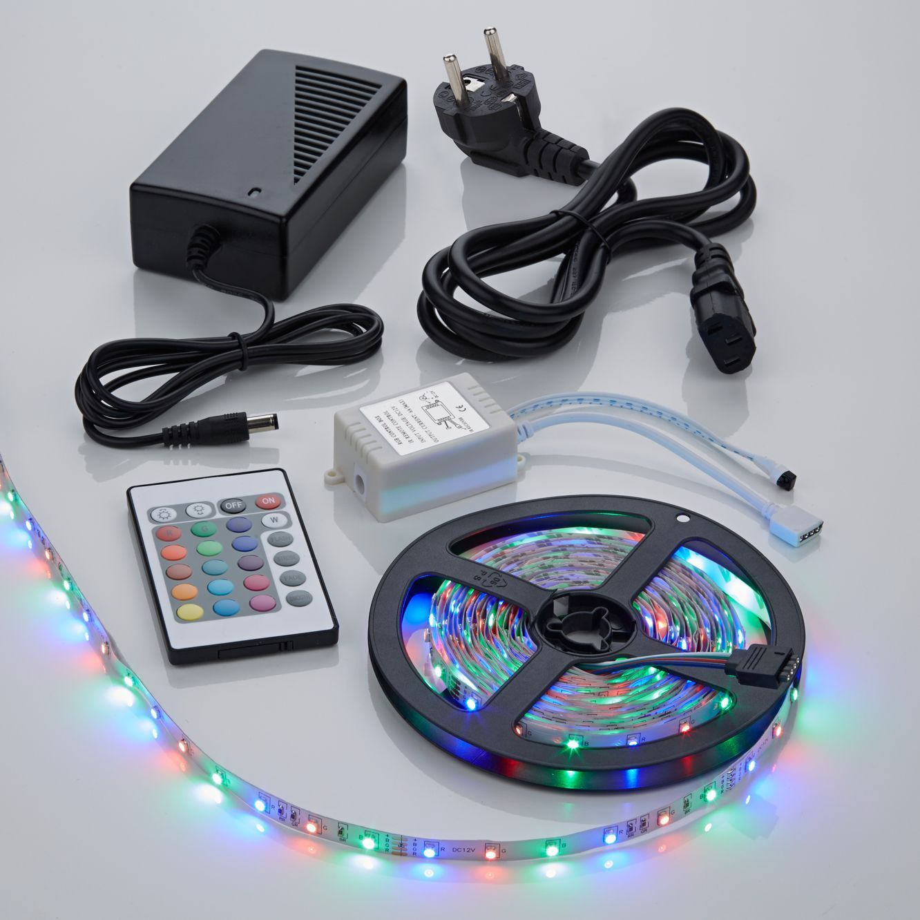 Led Verlichting Strip 30 Meter Biard Ip20 3528 Rgb Led Strip Verlichting Incl Driver, Ir