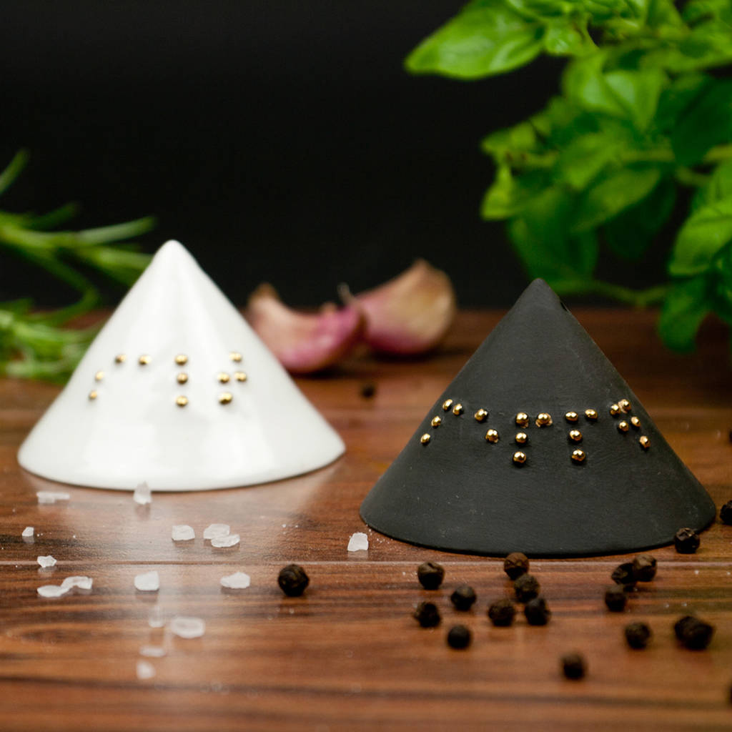 Modern Salt Pepper Shakers Minimalist Salt And Pepper Shakers With Braille