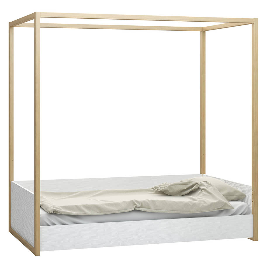 Single Four Poster Bed 4 You 4 Poster Single Bed In White And Oak Finish