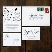 classic script wedding invitation set by feel good wedding ...