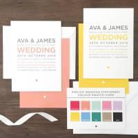 pimlico modern typography wedding stationery set by megan ...