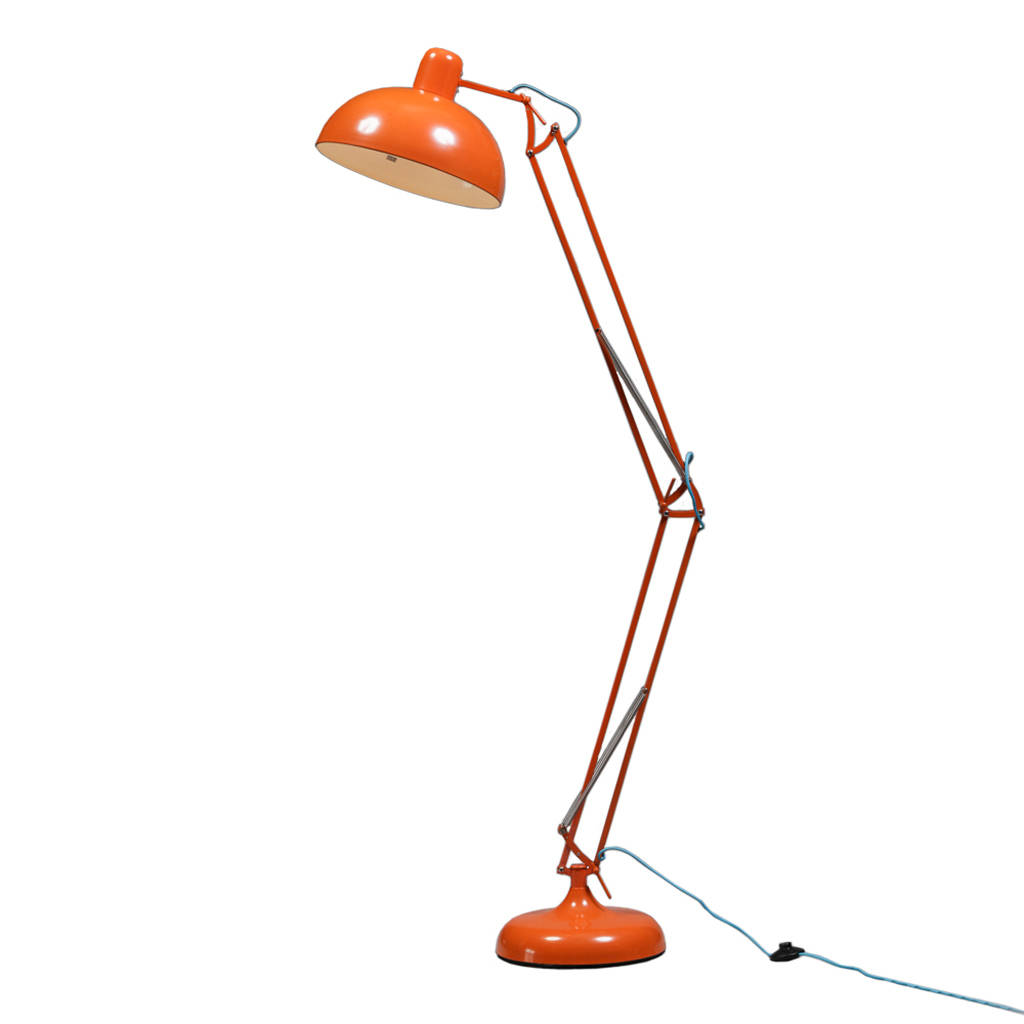 Orange Floor Lamp Retro Angle Floor Lamp In Eight Colours By Out There